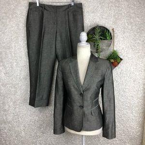 LOFT Linen Cropped Pant Suit | 8P